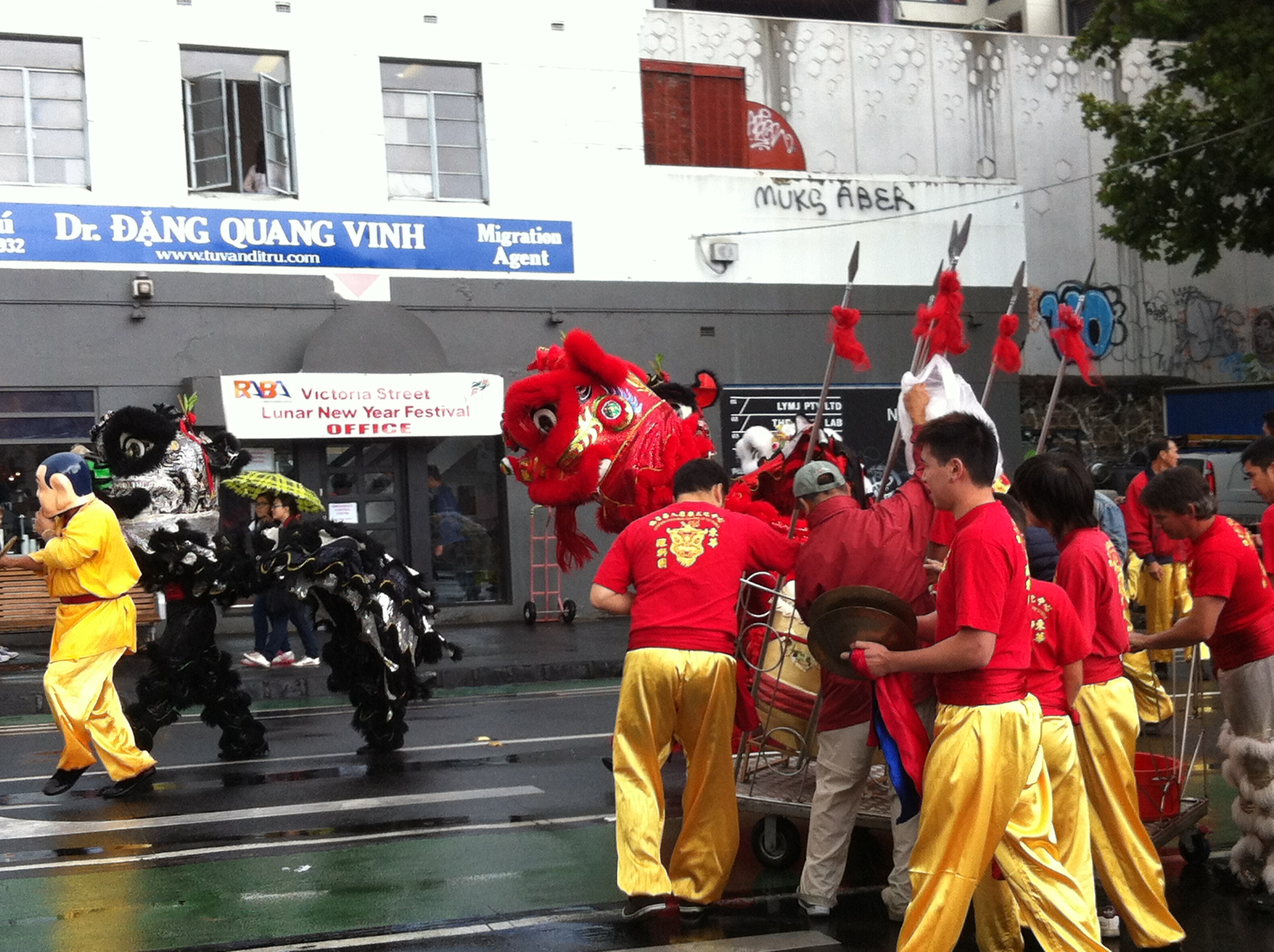 Lion dance at Victoria Street Melbourne