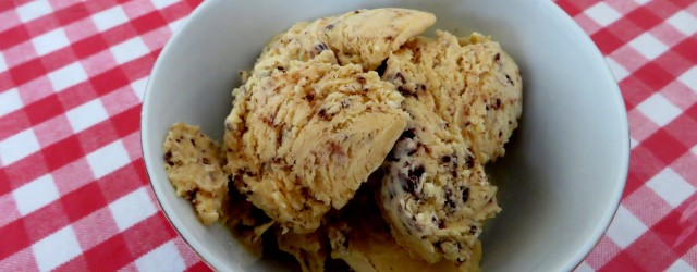 homemade chocolate chip ice cream