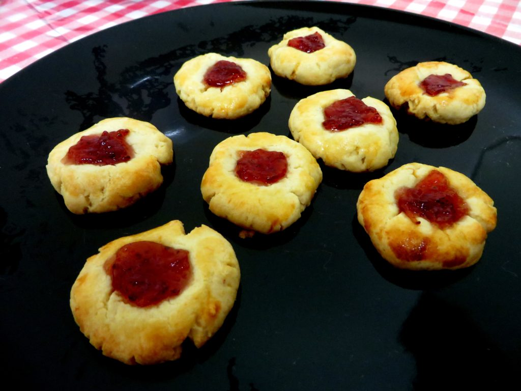 jam tarts from leftover pastry dough